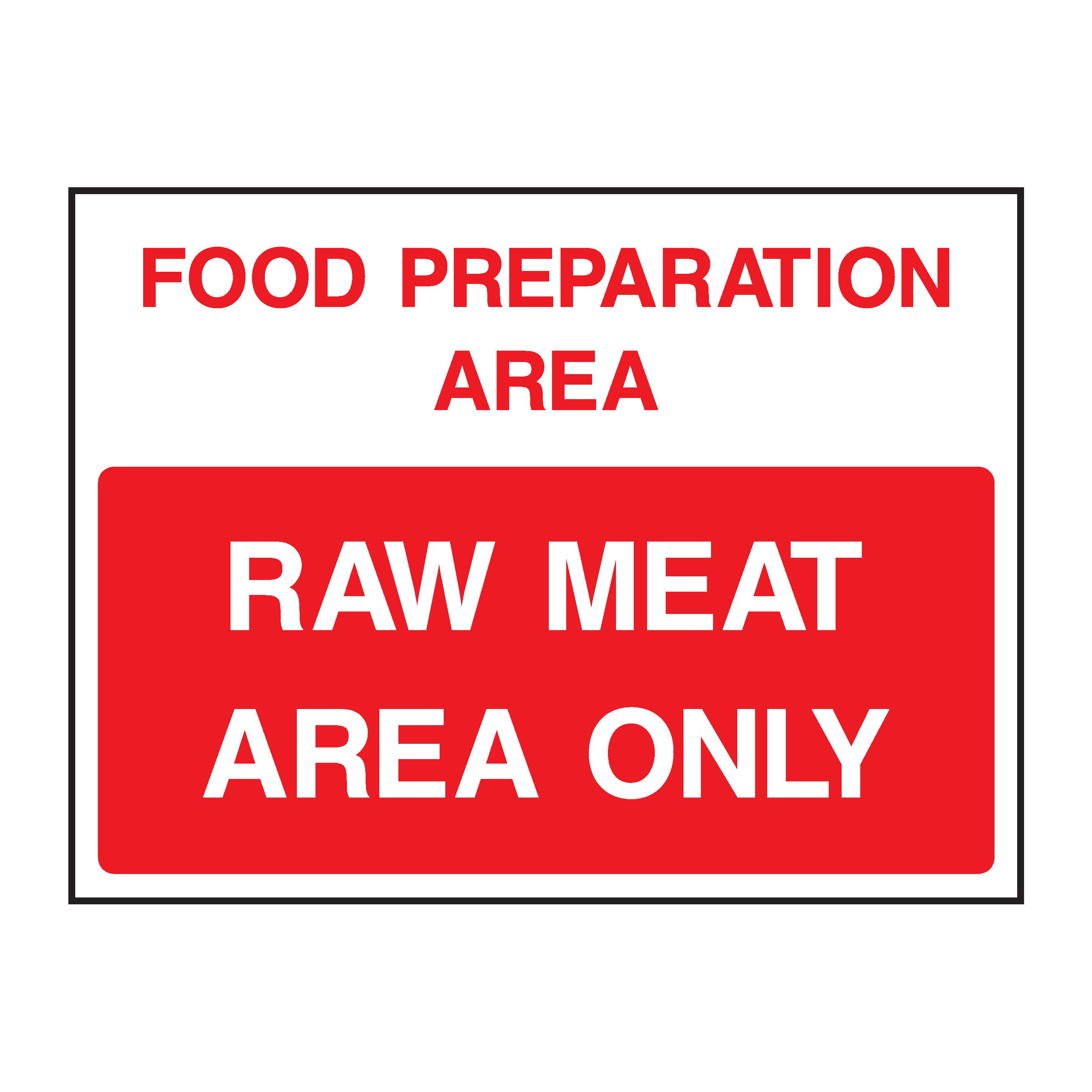 food preparation area raw meat area only fleet dynamic