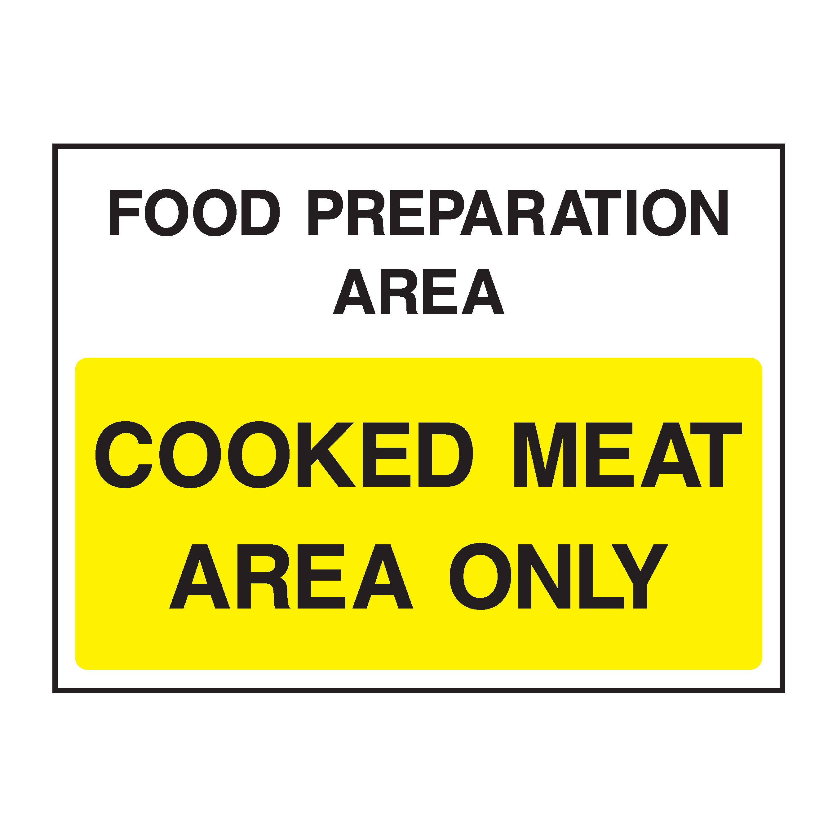 food preparation area cooked meat area only fleet dynamic