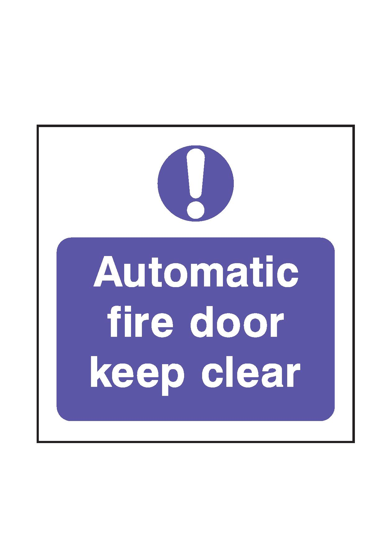 Automatic Fire Doors : Automatic fire door keep clear fleet dynamic