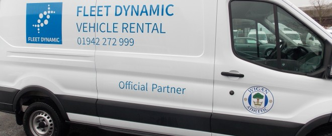 Wigan Athletic Kit Van – Fleet Dynamic Official Fleet Management Company