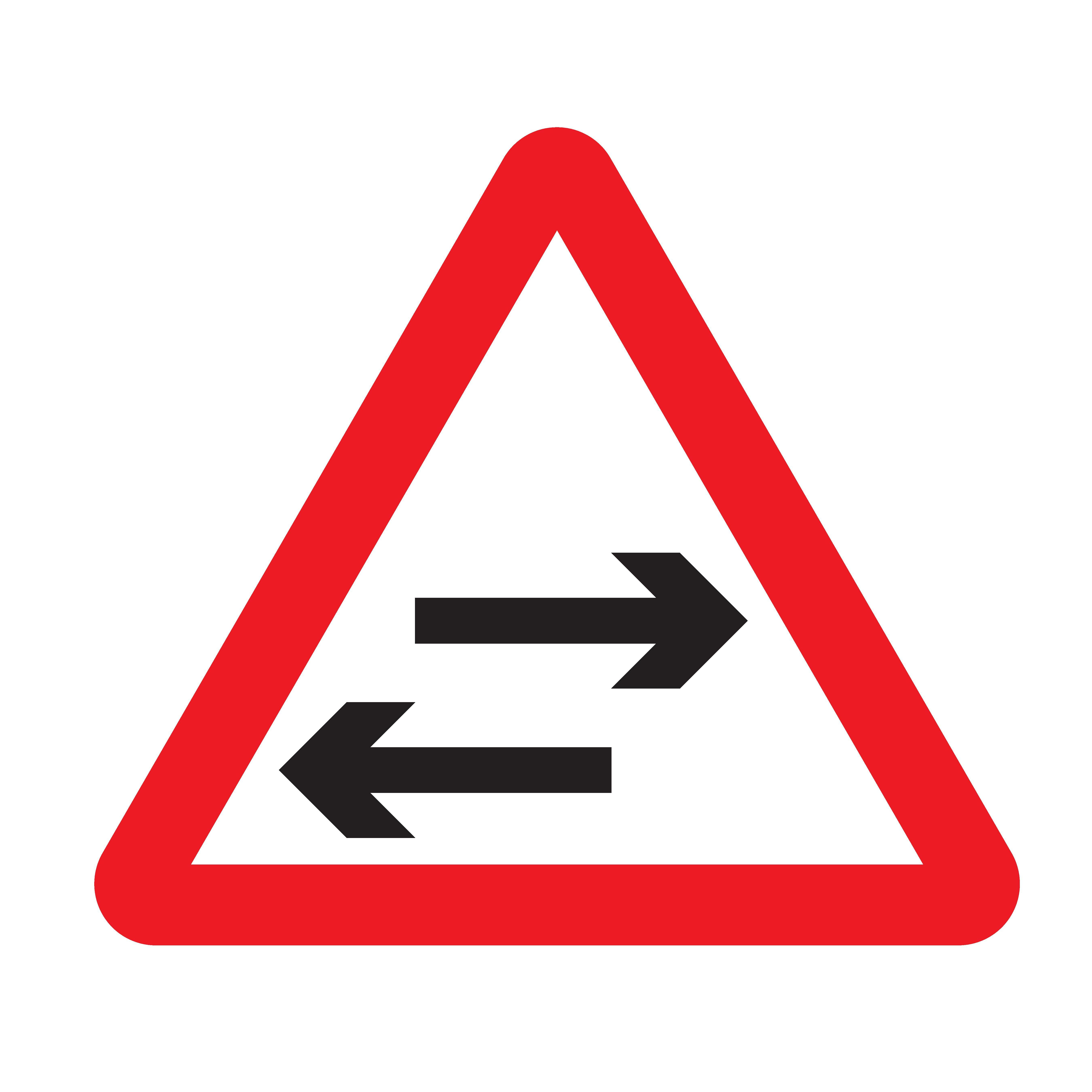 Reflective Warning Signs - Two Way Traffic Ahead|Seton Canada |Two Way Traffic Ahead Sign
